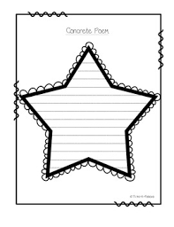 Template For A Star Template Star Concrete Poem By Third A Palooza Tpt