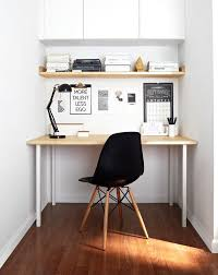 scandinavian home office. Small Scandinavian Home Office With White Walls Dark Hardwood Floors And A Freestanding Desk