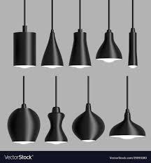Black Modern Light Modern Black Ceiling Lamp Set Realistic