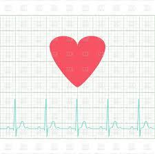 Ekg Medical Electrocardiogram On Grid Paper Graph Of Heart Rhythm Chart Strip 2d Illustration Vector Eps 8 Stock Vector Image