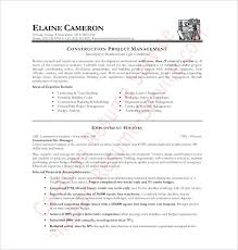 Project Management Resume Format Project Management Cv Template
