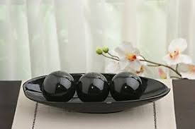 Decorative Bowl With Orbs Hosley's Black Decorative Bowl and Orb Set Great GiftCan be used 55