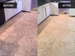 Travertine Tile For Kitchen Kitchen Travertine Tile Cleaning Before And After Healthy Home