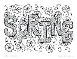 Coloring Pages Spring Time Coloring Pages Free For Preschoolers