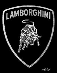 lamborghini logo black and white. Simple And Lamborghini Logo  To Black And White I