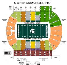 Michigan State Basketball Arena Seating Chart Prototypic Msu Football Stadium Map Osu Schottenstein Arena