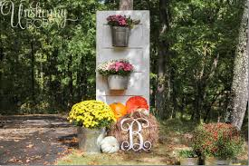 Old Door Decorating Fall Porch Decor With Plants And Pumpkins Unskinny Boppy