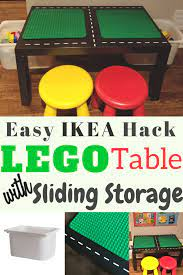 I have 2 kids, so i chose to build it with the ikea lack coffee table. Diy Lego Table With Storage Easy Ikea Hack The Kids Wlll Love