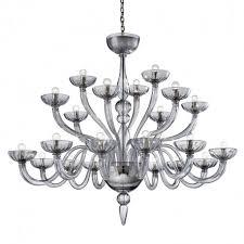 nirvana 21 lights grey murano glass chandelier