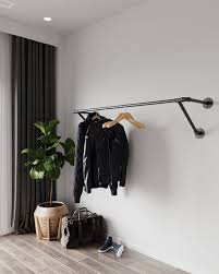 wall mounted clothes rack wall mounted