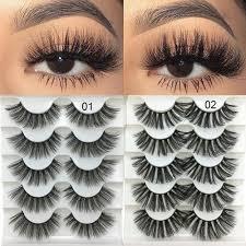 Generic <b>5 Pairs 3D Faux</b> Mink Hair <b>Soft</b> Eyelashes | Jumia Nigeria