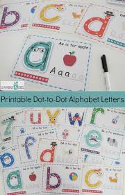 Printable Dot To Dot Alphabet Letter Charts Learning 4 Kids