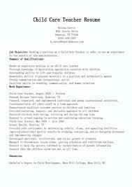 Child Caregiver Resume Xenomorphme Beauteous Childcare Resume