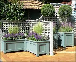 Decorative Planter Boxes Decorative Trellis Planter Boxes And Stained Or Sealed Wooden 14