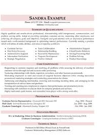 Customer Service Resume Summary New Customer Service Resume New Skills In 60 Pinterest
