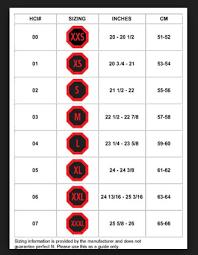 Scooter Belt Size Chart Sizing Chart