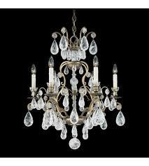 schonbek 2470 23 versailles rock crystal 6 light 22 inch etruscan gold chandelier ceiling light