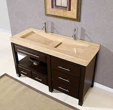 trough sinks with two faucet amazing undermount double sink bathroom home ideas 2