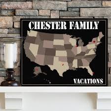 personalized americana family map on americana canvas wall art with americana family travel maps personalized family signs