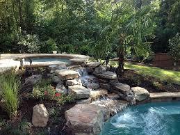 natural looking in ground pools. Waterfalls In Swimming Pools Small With Natural Looking In Ground Pools