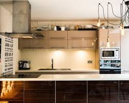 contemporary kitchen colors. Inspiration For A Contemporary Kitchen Remodel In London With Drop-in Sink, Flat Colors O