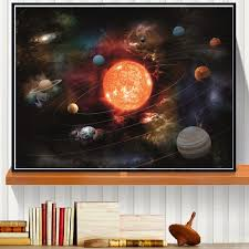 3d solar system canvas art print painting poster wall pictures for room decoration home decor no on 3d solar system wall art decor with 3d solar system canvas art print painting poster wall pictures for