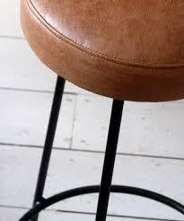vintage mid century european leather counter stools