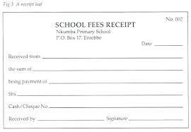 School Receipt Template Fees Receipt Format Fee Receipt Template