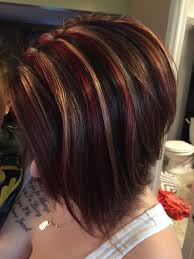 Red Blonde Chunky Highlight On Dark