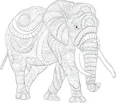 Coloring Pages Elephants Coloring Pages For Adults Elephant Adult