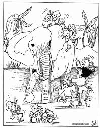 Small Picture Kids and elephant coloring pages Hellokidscom