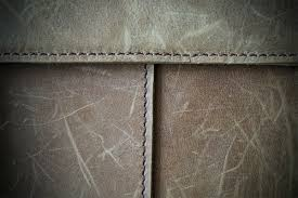 close up of nubuck leather with scratch marks