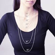 Chain Size Chart Inch Choose The Optimal Chain Length For Your Necklace My Name
