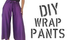 Wrap Pants Pattern Mesmerizing DIY How To Make Wrap Pants YouTube