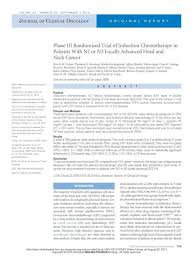 Phase III Randomized Trial of Induction Chemotherapy in Patients With N2 or  N3 Locally Advanced Head and Neck Cancer