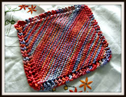 Sugar And Cream Knit Dishcloth Pattern Beauteous How To Knit A Dishcloth