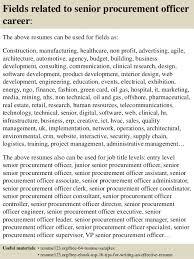 Top   senior procurement officer resume samples