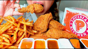 popeyes fried chicken logo. Unique Chicken CRUNCHY ASMR POPEYES Fried Chicken U0026 Cajun Fries  No Talking Eating  Sounds To Popeyes Logo C