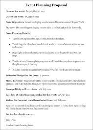 Events Proposal Sample Enchanting Event Planning Proposal Stunning Event Business Plan Template
