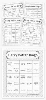 1000 ideas about harry potter activities harry printable bingo cards