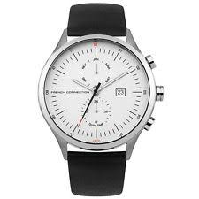 fcuk mens watch in watches parts accessories french connection fc1266b mens black leather strap watch rrp £85