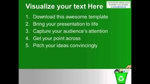 Throw Garbage Can Green Recycling Powerpoint Templates Ppt