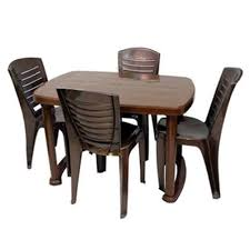 plastic dining table chair set