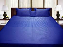 pure egyptian cotton single bed quilt cover egyptian blue stripe