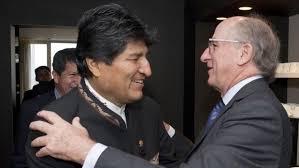 Resultado de imagen de fotos de Evo Morales y Repsol