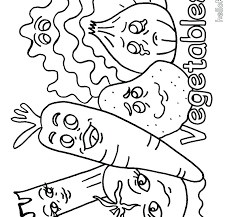 Fruits And Vegetables Coloring Pages Vegetables And Fruits Coloring