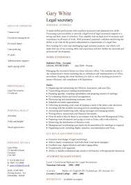 Secretary Resume Template Best Gallery Of Legal Secretary Cv Sample Secretary Resume Template
