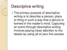 writing modes narrative descriptive and argumentative