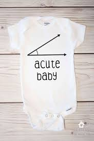 Acute Baby Onesie - Nerdy Math Joke Gift