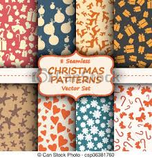 vintage holiday wallpaper. Exellent Vintage Merry Christmas And Happy New Years Seamless Vintage Wallpaper Set  Different Holiday Collections In E